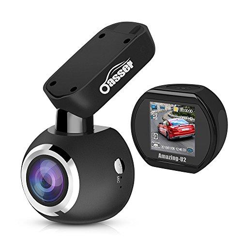Oasser Dashcam Voiture à Grand Angle de 170° Dashcam Full HD 1080P avec Capteur Sony IMX323 Caméra Embarquée avec Vision Nocturne