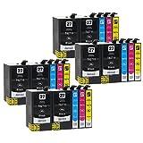 20 Druckerpatronen kompatibel zu Epson 27-XL, T2705, T2715 (8x Schwarz, 4x Cyan, 4x Magenta, 4x Gelb) passend für Epson WorkForce WF-3600 WF-3620-DWF WF-3620-WF WF-3640-DTWF WF-7110-DTW WF-7600 WF-7610-DWF WF-7620-DTWF