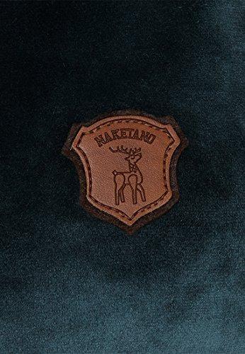 Naketano Darth Mack Velour Mellow Blue Dark Green