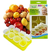 First Steps Baby Weaning Food Freezing Cubes Tray Pots Freezer Storage Containers BPA Free