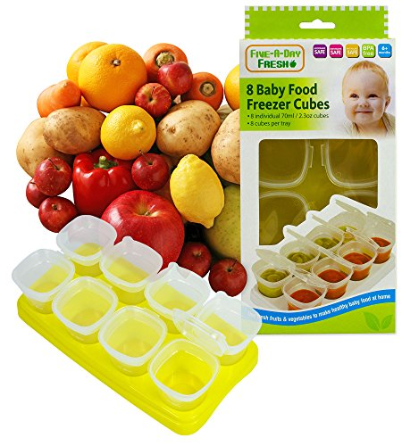 First Steps Baby Weaning Food Freezing Cubes Tray Pots Freezer Storage Containers BPA Free 518up1NLiEL