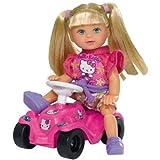 Simba EVI´S HELLO KITTY BOBBY CAR Steffi Love Evi mit Bobbycar Ankleidepuppe NEU, Farbe:Lila