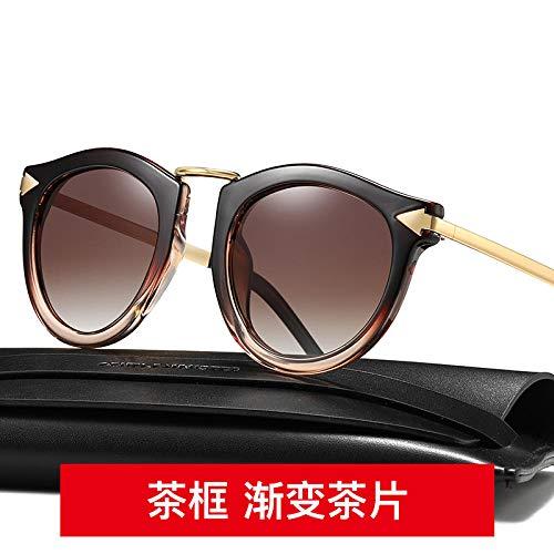Polarisierte UV-Schutz Sonnenbrille weibliches Netz rote Street Shot Sonnenbrille rundes Gesicht Koreanische Brille ins große Gesicht 2019 neu