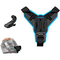 Yantralay Scool of Gadgets Telesin Helmet Chin Strap Mount Compatible with Gopro Hero 8/7/6,SJCAM, Yi, DJI Osmo Action…
