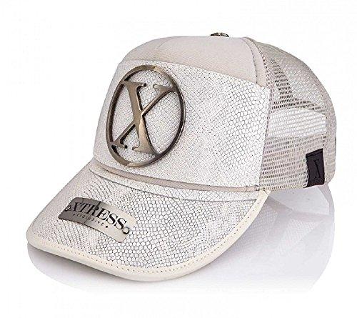 Xtress Exclusive Gorra blanca en piel blanca para hombre y mujer. 2f943bf5247