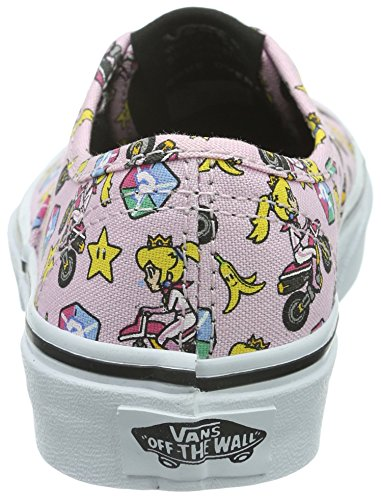 Vans Authentic, Scarpe da Ginnastica Basse Unisex – Bambini Rosa ((Nintendo) Princess Peach/motorcycle)