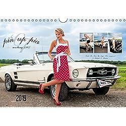 Pin Up Pia & Mustang '67 (Wandkalender 2019 DIN A4 quer): Monatskalender mit herrlichen Pin-Up-Fotos rund um Pia und den edlen weißen 1967er Mustang. (Monatskalender, 14 Seiten )