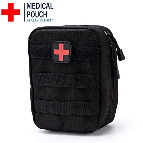 Erste Hilfe Tasche, Medizinischer Notfallrucksack für Zuhause, Freien, Auto, Camping, Arbeitsplatz, Wandern und Überleben(Schwarz)