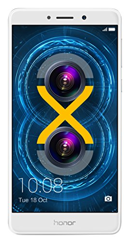 "Honor 6X 4G 32GB Silver - Smartphones (14 cm (5.5""), 32 GB, 12 MP, Android, M, Silver)"