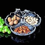 Europea sub-Grid frutas plato de frutas plato Fashion Creative candy frutos secos plato Cristal Crystal Swan Bar regalo