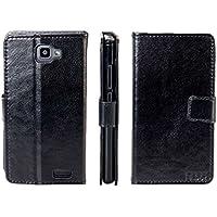 caseroxx Hülle / Tasche Bookstyle-Case Archos 50B Neon Handy-Tasche, Wallet-Case Klapptasche in schwarz