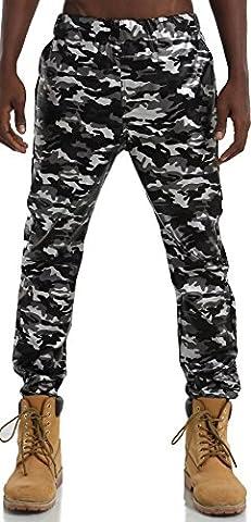 Pizoff Hommes Hip Hop PU pantalons de survêtement imprimé camouflage de camouflage similicuir Y1715-4-40