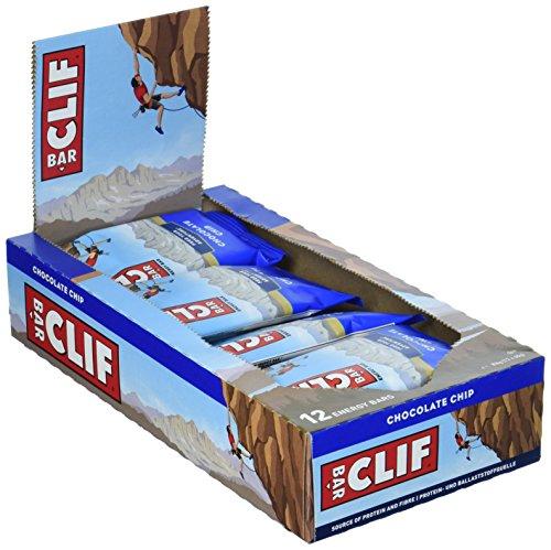Clif Bar Energie-Riegel Schokochips 12er Pack (Inhalt 12 Riegel je 68g)