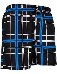 GUGGEN MOUNTAIN Maillot de bain pour homme de materiau high-tech slip shorts checked *High Quality Print*