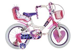 "Raleigh Molli 16"" Childrens Bike - White and Pink - Girls."