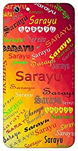 Sarayu (Wind) Name & Sign Printed All over customize & Personalized!! Protective back cover for your Smart Phone : Moto G3 ( 3rd Gen )