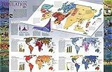 Reproduktion eines Poster Präsentation–Weltkarte–Bevölkerung (1998)–61x 81,3cm Poster Prints Online kaufen