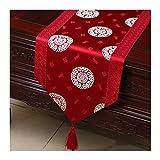 JUNYZZQ Tischläufer Tabelle Flagge Einfache Gartentisch Flagge Tischdecke Couchtisch Bett Bett Kabinett Flagge Tisch Lange Tischdecke Europäischen Stoff 30X200 cm
