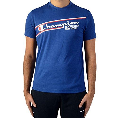 Champion T-Hemd Tee 211391-BVU Bleu -