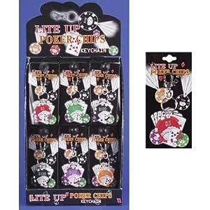 Porte-clés poker lumineux