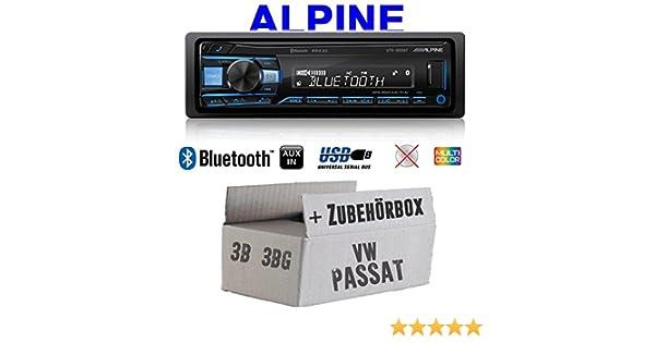 Autoradio Alpine Bluetooth USB MP31-DIN PKW KFZ Einbauset für Opel Zafira A