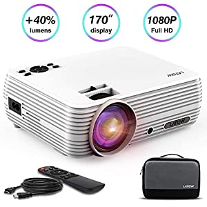 Projecteur-Vido-LATOW-X8-Vidoprojecteur-Full-HD-1080P-projecteur-vido-mini-170-Pouces-Image-Grand-Portable-Home-Cinma-multimdia-HDMI-TF-VGA-AV-USB-pour-Smartphone-Laptop-TV-Incl-HDMI-Blanc