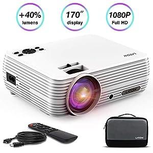 Projecteur-Vido-LATOW-X8-Vidoprojecteur-Full-HD-1080P-projecteur-vido-mini-170-Pouces-Image-Grand-Portable-Home-Cinma-multimdia-HDMI-TF-VGA-AV-USB-pour-Smartphone-Laptop-TV-Incl-HDMI-Blanc