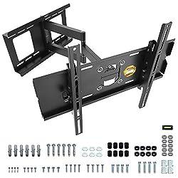 """RICOO Wandhalterung TV Schwenkbar Neigbar R03 Universal LCD Wandhalter Ausziehbar Fernseher Halterung Fernsehhalterung 81cm/32"""" - 165cm/65"""" Zoll / VESA 200x200 400x400 / Schwarz"""