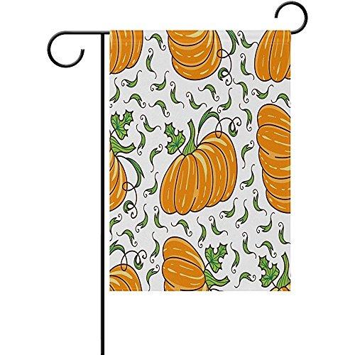 ALLdelete# Garden Flag Nette orange Halloween-Kürbis-Polyester-Garten-Flaggen-Haus-Fahne,doppelseitige Willkommens-Yard-Dekorations-Flagge für Hochzeitsfest-Inneneinrichtungen