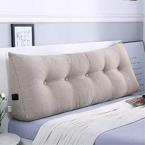 Zzkd tinta unita triangolo staccabile cuscino comodino lino cuneo con testiera tatami lettura schienale cuscino testiera cuscino letto matrimoniale per divano camera da letto