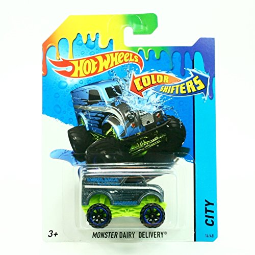 MONSTER DAIRY DELIVERY * COLOR SHIFTERS * 2015 Hot Wheels City Series 1:64 Scale Vehicle #14/48 by Hot Wheels