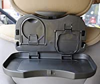 Sevia Travel Dining Tray for Car - Meal Plate and Bottle and Cup Holder (Multi Color)
