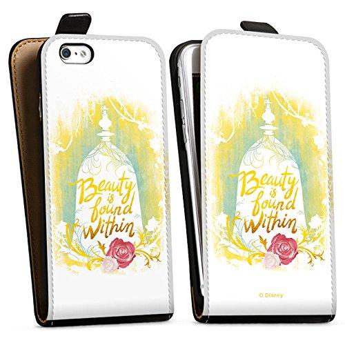 Apple iPhone X Silikon Hülle Case Schutzhülle Die Schöne und das Biest Disney Rose Downflip Tasche schwarz