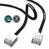 AIXONTEC Cat6a Netzwerkkabel geschirmt, schwarz | dünnes lan kabel mit 4,0 mm Kabeldurchmesser | flexible netzwerkkabel | FTP-Ethernet-Cable | 500 MHz | Halogenfrei | kompatibel zu CAT 5e / CAT 6 / CAT7 | 10/100/1000/10000Mbit /s | für Switch, Router, Modem, Patchpannel, Access Point, Patchfelder, X-box, IP-Kammera (5,0m)