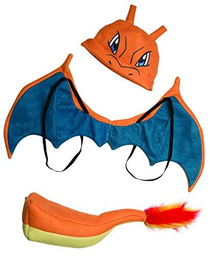 Glurak Kind Pokemon Kostüm - Pokemon Charizard Child Costume Kit One Size