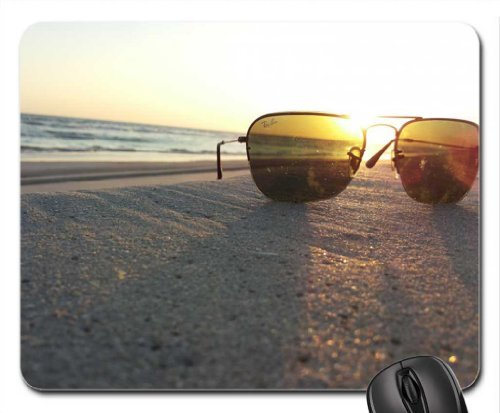 Preisvergleich Produktbild beach through rayban Mouse Pad, Mousepad (Beaches Mouse Pad)