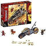 LEGO Ninjago - Moto Todoterreno de Cole Motocicleta Ninja de Juguete con Rueda de Oruga, incluye dos...