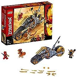 Fahre auf dem Offroad-Bike von LEGO NINJAGO Ninja Cole in die Verhängnisvolle Wüste! Die coolen Raupenbänder und das große Hinterrad mit goldener Felge sind perfekt, um damit über den Sand zu heizen. Schließ dich mit Kai zusammen, um den Pyro-Verwüst...