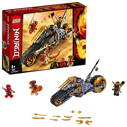 LEGO 70672 NINJAGO Cole's Dirt Bike Ninja Motorbike with Caterpillar Tracks and 3 Minifigures, Adventure Toy for Kids Best Price and Cheapest