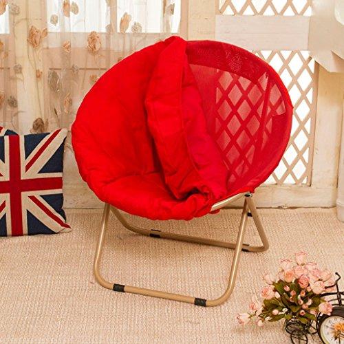Chaise pliantes Alliage d'aluminium grossier pliant chaise de lunette portable ultra légère chaise de chasse colorée décontractée chaise de pique-nique colorée ( Couleur : Rouge )
