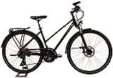 KTM Damen Fahrrad 28 Zoll Schwarz-Grau Trentino Light Trekkingrad - Shimano Schaltung, Suntour Federgabel, Nabendynamo
