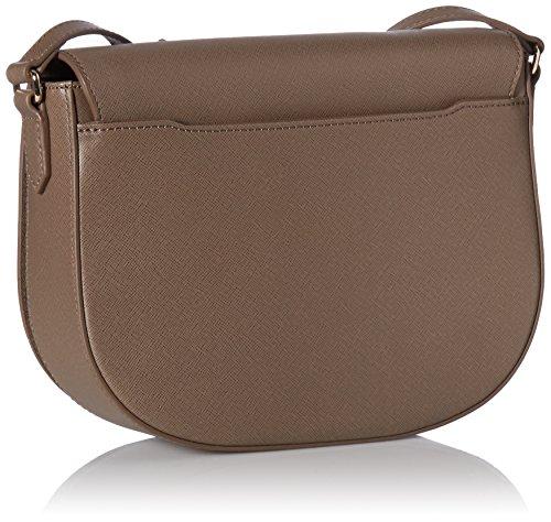 Ecco - Ecco Iola Medium Saddle Bag, borsa a tracolla Donna Grigio (Dark Clay)