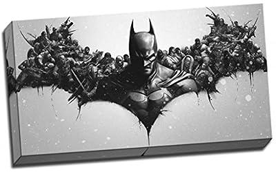 Toile imprimée motif logo Batman avec super héros 76,2 x 40,6 cm