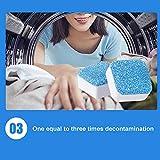 MJTP 12 PZ Rondella Decontaminazione Detergente Detergente Compressa Effervescente Lavatrice Detergente Disincrostante Rimozione Profonda Deodorante