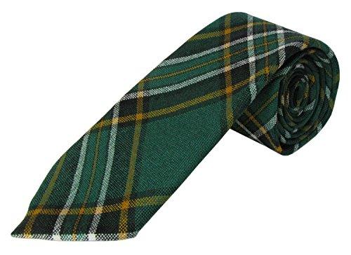 Irish County Krawatten mit Karomuster / Tartan-Muster, reine Wolle Gr. Adult, Irish National -