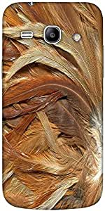 Snoogg feathers 3 texture Hard Back Case Cover Shield For Samsung Galaxy Core 2