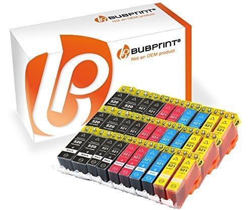 Bubprint 30 Druckerpatronen kompatibel für Canon PGI-520 CLI-521 für Pixma IP3600 IP4600 IP4700 MP540 MP550 MP560 MP620 MP630 MP640 MP980 MP990 MX860