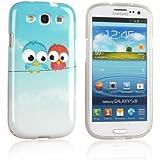 tinxi® Design Schutzhülle für Samsung Galaxy S3 i9300 / S3 Neo i9301 hülle TPU Silikon Rückschale Schutz Hülle Silicon Case mit zwei kleine Eulen Owl Muster