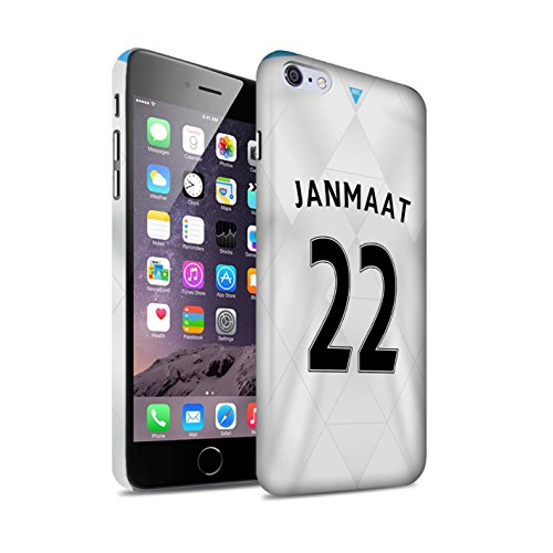 Offiziell Newcastle United FC Hülle / Matte Snap-On Case für Apple iPhone 6S+/Plus / Pack 29pcs Muster / NUFC Trikot Away 15/16 Kollektion Janmaat