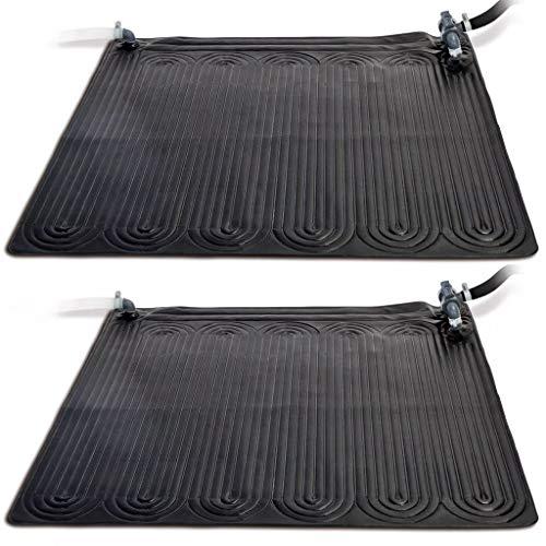 Festnight Tapis Solaire pour Piscine Chauffant PVC 1,2 x 1,2 m 2 pcs Noir